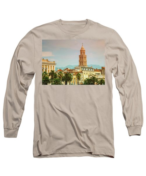 Riva Waterfront, Houses And Cathedral Of Saint Domnius, Dujam, D Long Sleeve T-Shirt