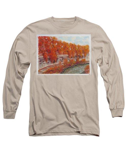 River Tiber In Fall Long Sleeve T-Shirt