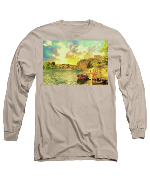 Long Sleeve T-Shirt featuring the photograph River View by Leigh Kemp