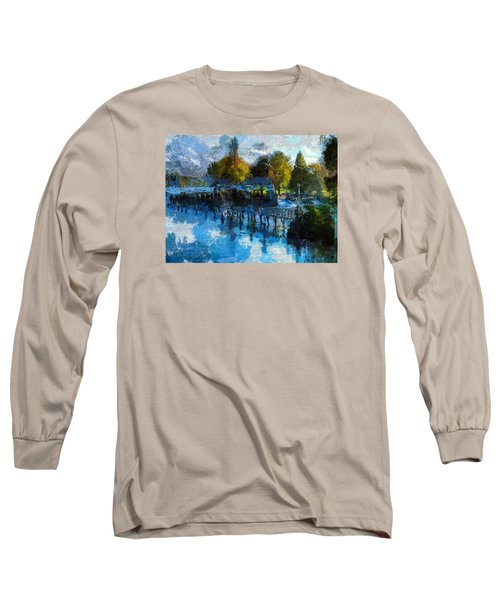 Long Sleeve T-Shirt featuring the digital art Riverview by Leigh Kemp