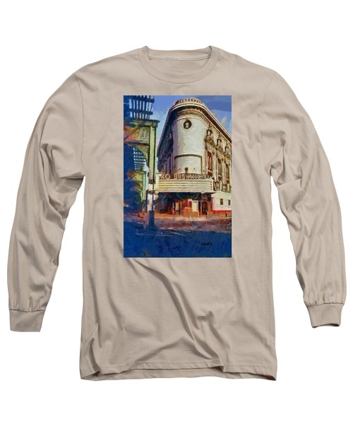 Long Sleeve T-Shirt featuring the digital art Rko Bushwick Theater 1974 by Kai Saarto