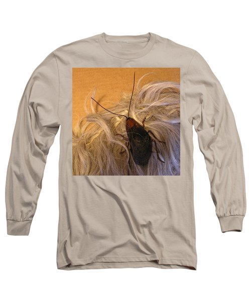 Roach Hair Clip Long Sleeve T-Shirt by Roger Swezey