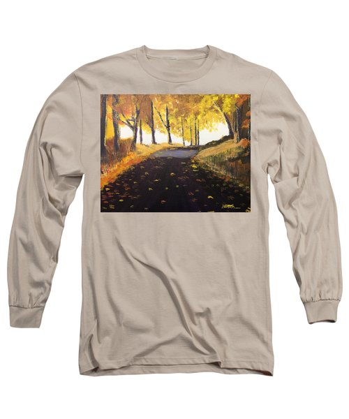 Road In Autumn Long Sleeve T-Shirt