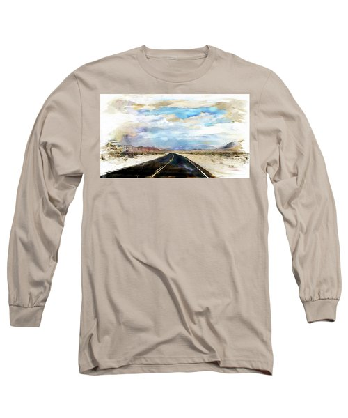 Long Sleeve T-Shirt featuring the digital art Road In The Desert by Robert Smith