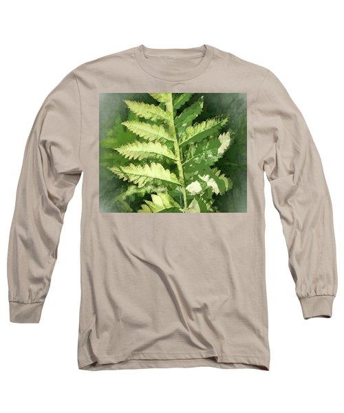 Roadside Fern, Abstract 2 - Long Sleeve T-Shirt