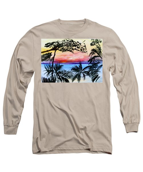 Roatan Sunset Long Sleeve T-Shirt