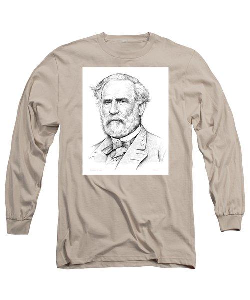 Robert E. Lee Long Sleeve T-Shirt by Greg Joens