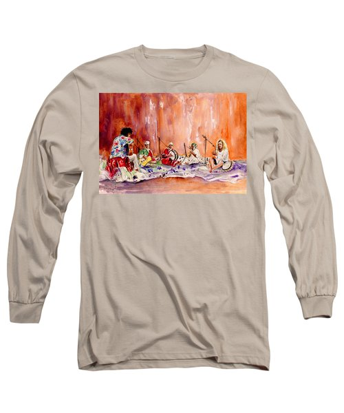 Robert Plant And Jimmy Page In Morocco Long Sleeve T-Shirt