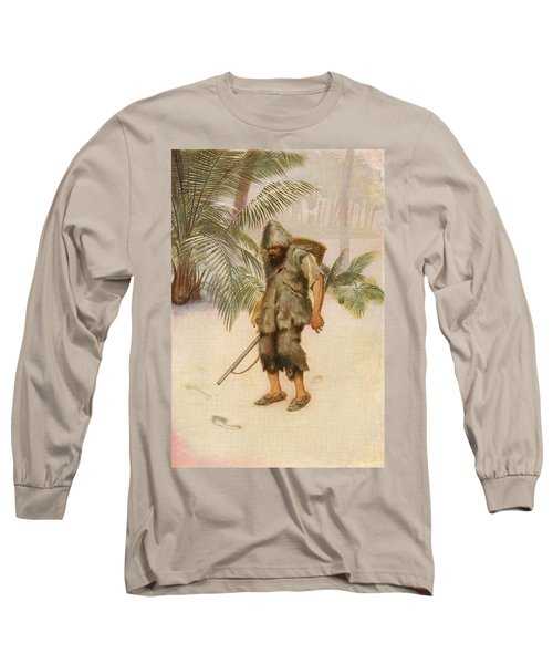 Robinson Crusoe Sees A Footprint In The Long Sleeve T-Shirt
