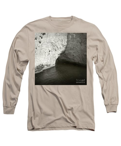 Long Sleeve T-Shirt featuring the photograph Rock And Water by Sebastian Mathews Szewczyk