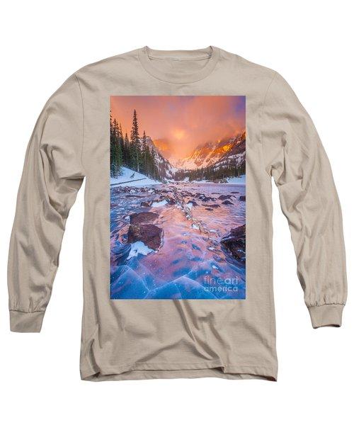 Rocky Mountain Sunrise Long Sleeve T-Shirt by Steven Reed