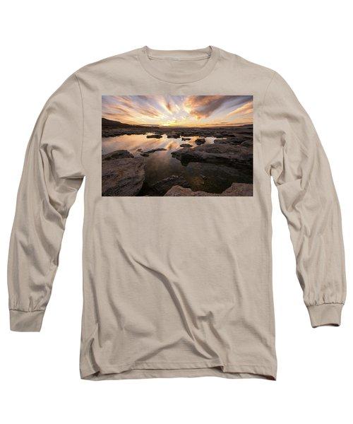 Rocky Shores Of Utah Lake Long Sleeve T-Shirt