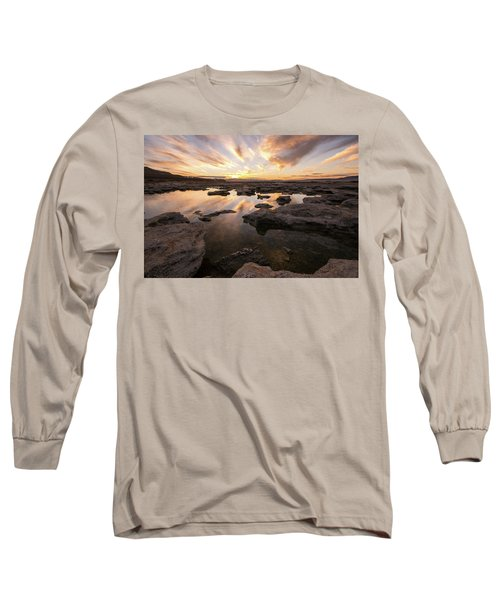 Rocky Shores Of Utah Lake Long Sleeve T-Shirt