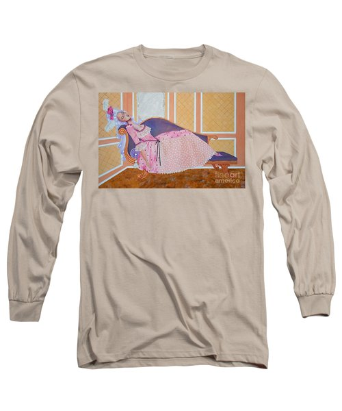 Rococo Coquette -- Mme. Pompadour, #2 In Famous Flirts Series Long Sleeve T-Shirt