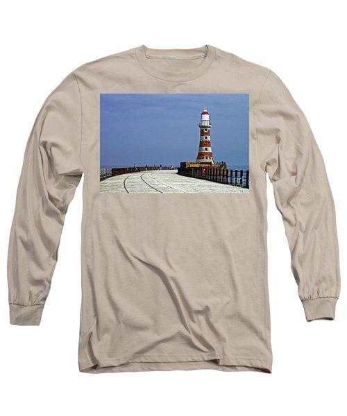 Roker Lighthouse Sunderland Long Sleeve T-Shirt