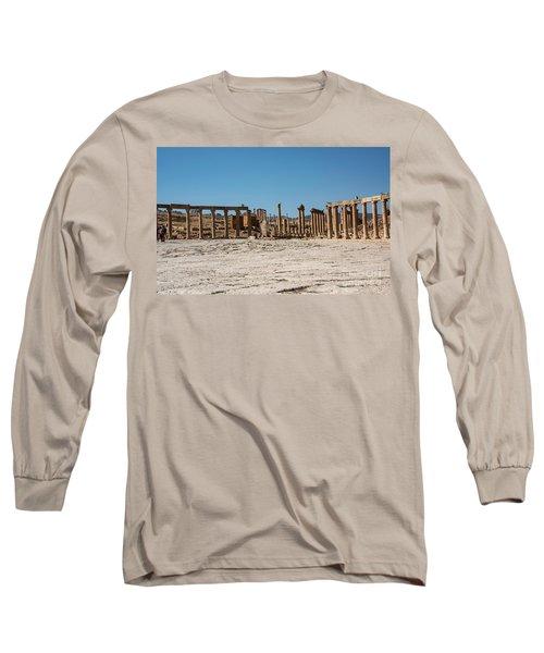 Long Sleeve T-Shirt featuring the photograph Roman Ruins At Ajloun by Mae Wertz