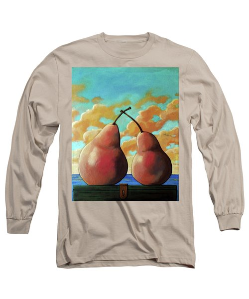 Long Sleeve T-Shirt featuring the painting Romantic Pear by Linda Apple