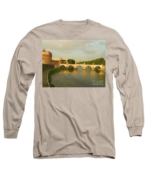 Rome The Eternal City And Tiber River Long Sleeve T-Shirt