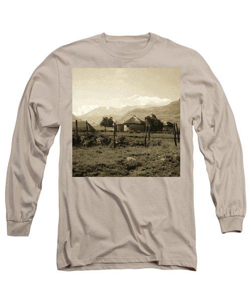 Rondavel In The Drakensburg Long Sleeve T-Shirt