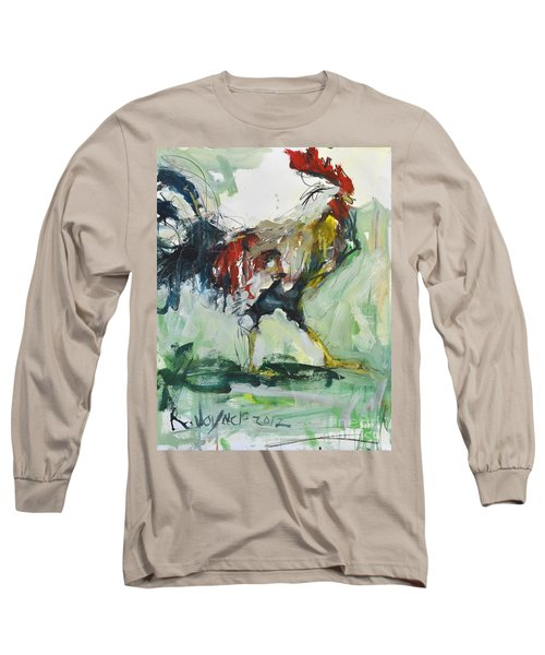 Rooster Painting Long Sleeve T-Shirt