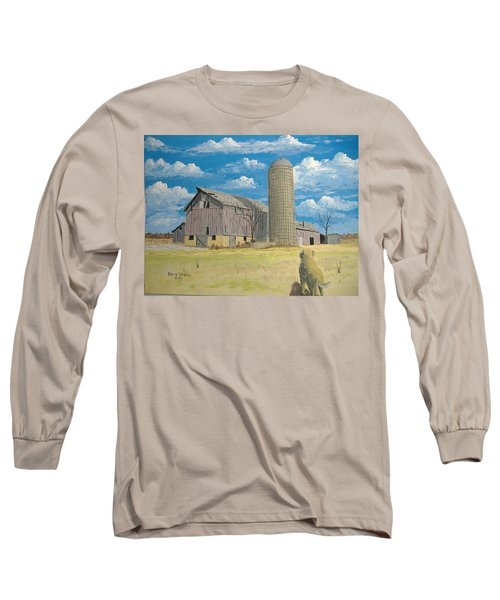 Long Sleeve T-Shirt featuring the painting Rorabeck Barn by Norm Starks