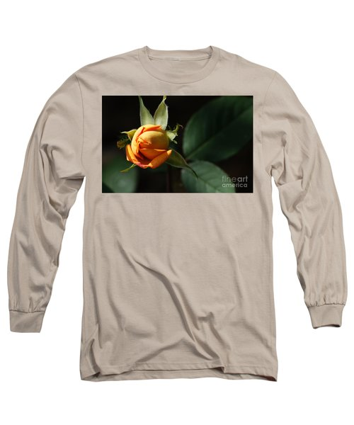 Long Sleeve T-Shirt featuring the painting Rose Bud by Debra Crank