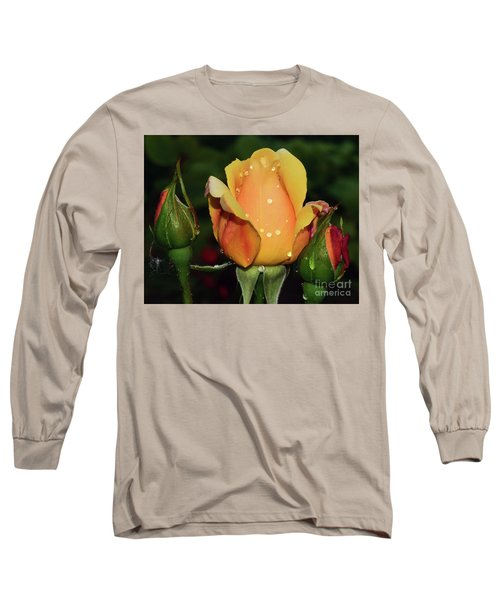 Rose Bud Long Sleeve T-Shirt by Elvira Ladocki