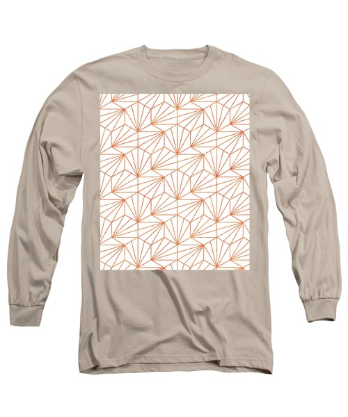 Rose Gold And White Long Sleeve T-Shirt