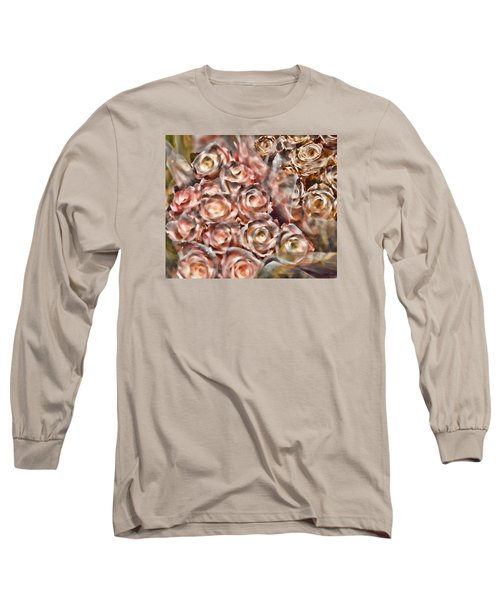 Rose Sparkle Long Sleeve T-Shirt by JAMART Photography