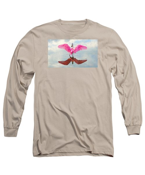 Roseate Spoonbill Pink Angel Long Sleeve T-Shirt