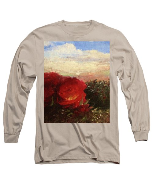 Rosebush Long Sleeve T-Shirt by Mary Ellen Frazee