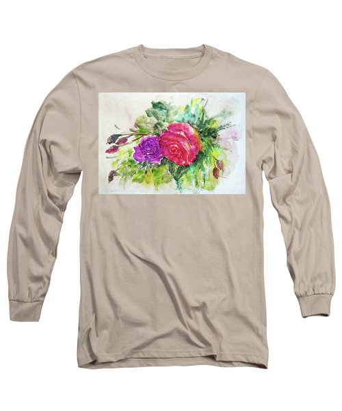 Roses For You Long Sleeve T-Shirt by Jasna Dragun