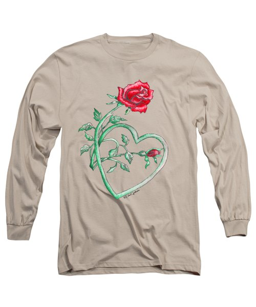 Roses Hearts Lace Flowers Transparency       Long Sleeve T-Shirt
