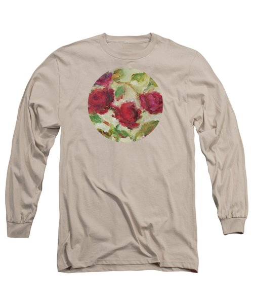 Long Sleeve T-Shirt featuring the painting Roses by Mary Wolf