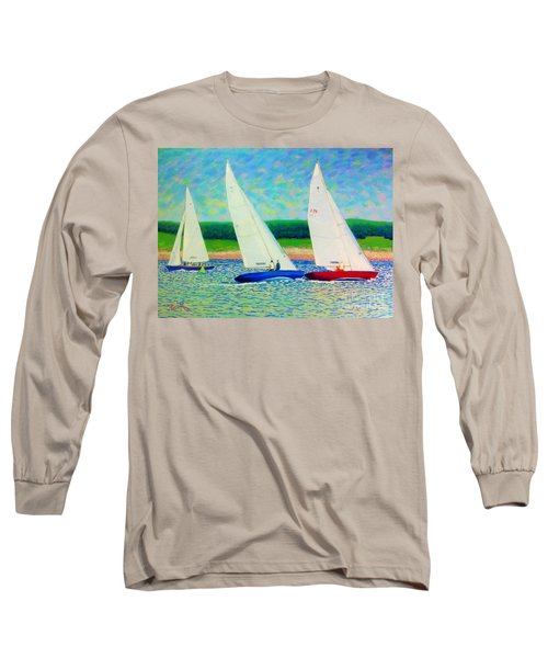 Rounding The Mark  Long Sleeve T-Shirt by Rae  Smith