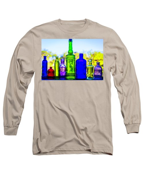 Row Of Colored Bottles Long Sleeve T-Shirt