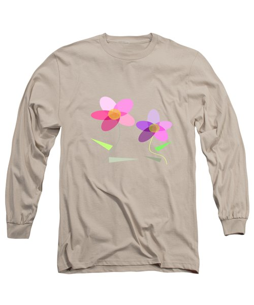 Rows Of Flowers Long Sleeve T-Shirt by Kathleen Sartoris