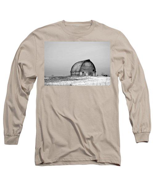 Royal Barn Bw Long Sleeve T-Shirt by Bonfire Photography