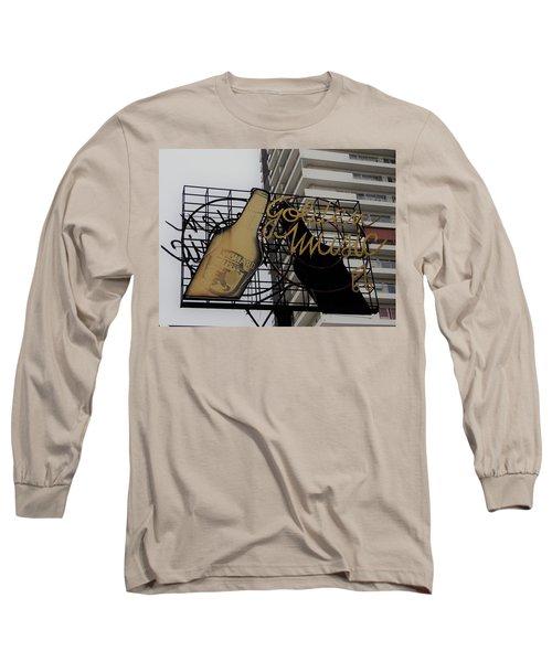 Royal Guard Cerveza And Golden Music Sign Long Sleeve T-Shirt