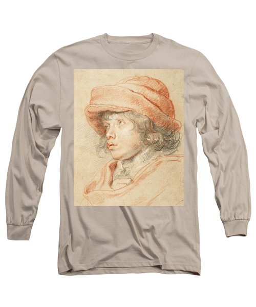 Rubens's Son Nicolaas Wearing A Red Felt Cap Long Sleeve T-Shirt