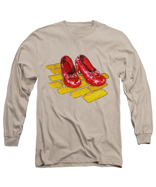 Ruby Slippers Wizard Of Oz Long Sleeve T-Shirt