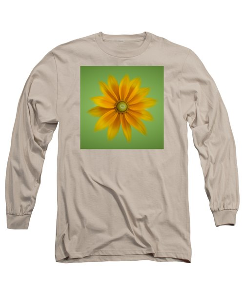 Rudbeckia Blossom Irish Eyes - Square Long Sleeve T-Shirt by Patti Deters