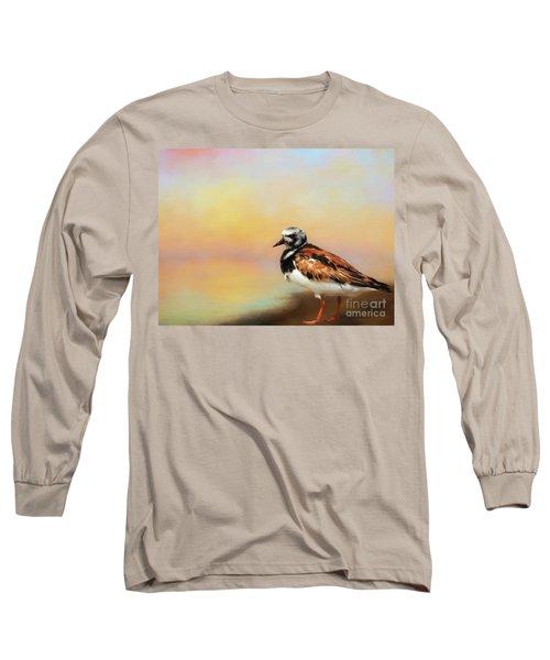 Ruddy Turnstone Long Sleeve T-Shirt by Suzanne Handel