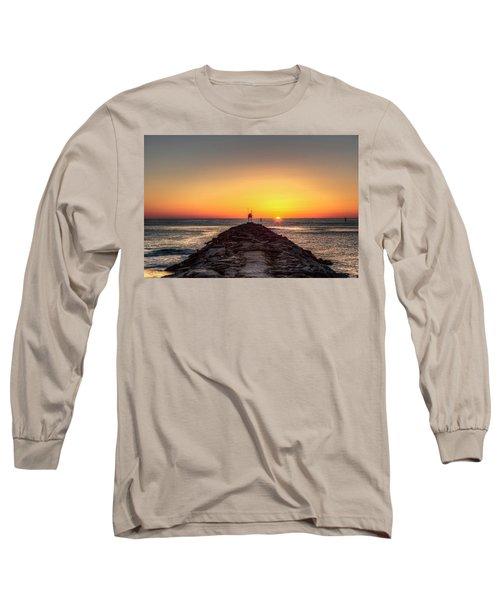 Rudee Inlet Jetty Long Sleeve T-Shirt