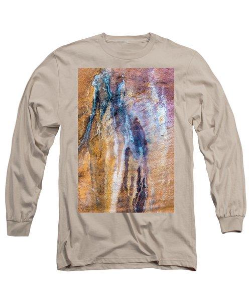 Long Sleeve T-Shirt featuring the photograph Runoff Abstract, Bhimbetka, 2016 by Hitendra SINKAR