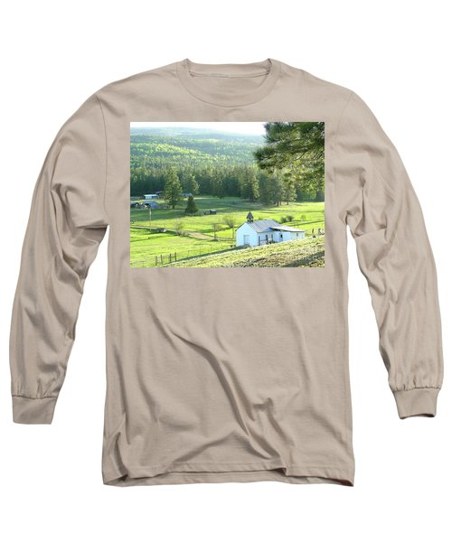 Rural Church In The Valley Long Sleeve T-Shirt by Cindy Croal
