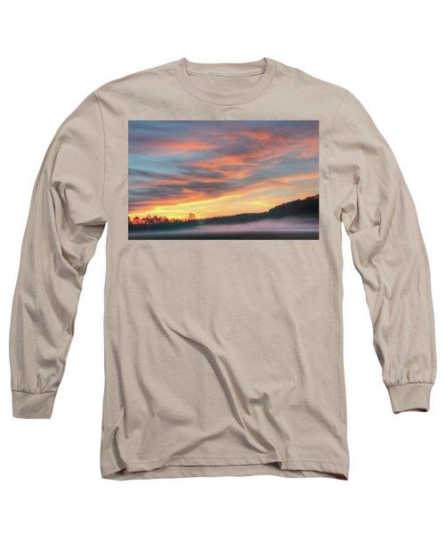 Rural Missouri Sunrise Long Sleeve T-Shirt