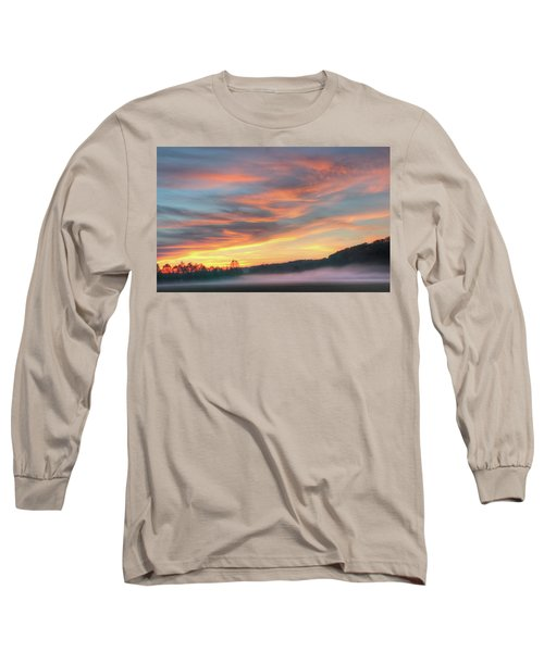 Rural Missouri Sunrise Long Sleeve T-Shirt
