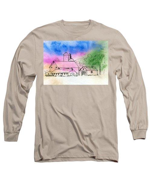 Rural Nostalgia Long Sleeve T-Shirt by R Kyllo