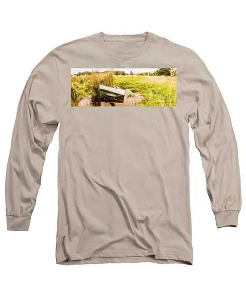 Rural Tasmania Farm Scene Long Sleeve T-Shirt